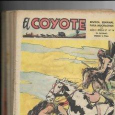 Tebeos: EL COYOTE EPOCA 2ª AÑO 1954 COLECCIÓN COMPLETA SON 14 TEBEOS ORIGINALES J. BLASCO GRÁFICAS GUADA S. Lote 147320780