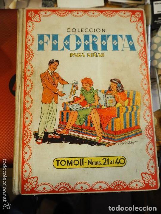 Tebeos: Colección Florita para niñas, Tomo II nums 21 al 40. Vicente Roso. Ediciones Cliper. - Foto 2 - 139661910