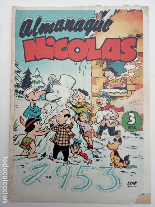 ALMANAQUE NICOLÁS ORIGINAL PARA 1953 - EDICIONES CLIPER (Tebeos y Comics - Cliper - Nicolas)