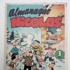 Tebeos: ALMANAQUE NICOLÁS ORIGINAL PARA 1953 - EDICIONES CLIPER. Lote 142465402