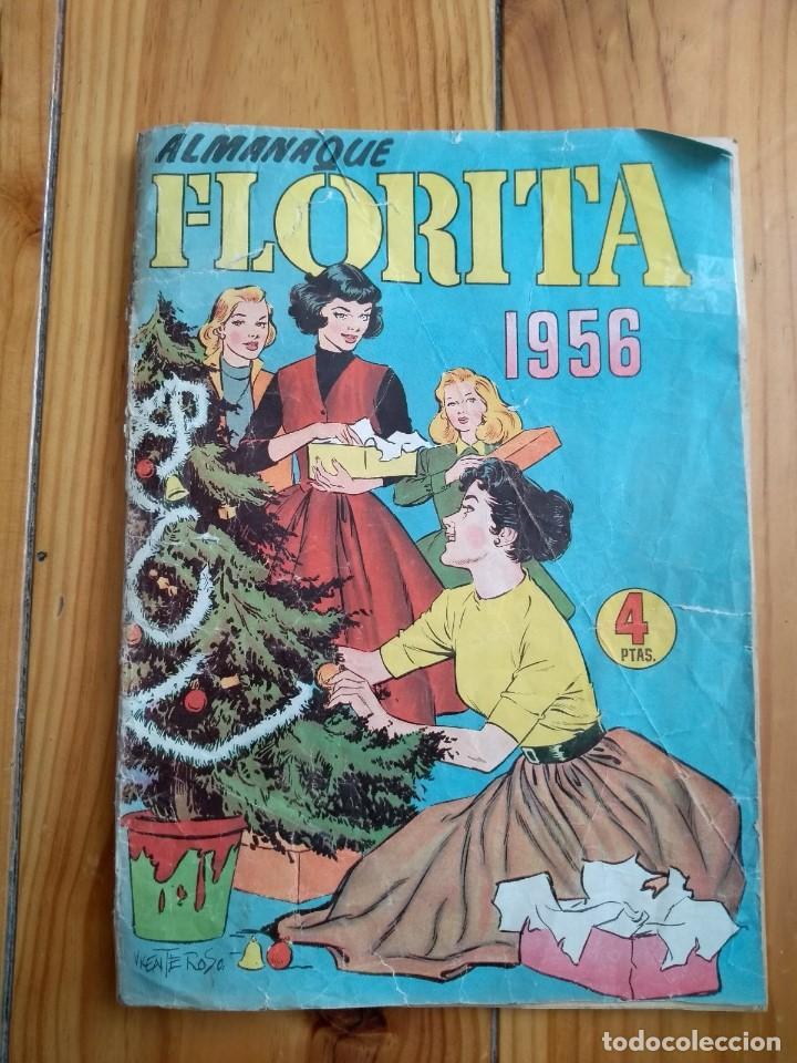FLORITA ALMANAQUE 1956 D2 (Tebeos y Comics - Cliper - Florita)