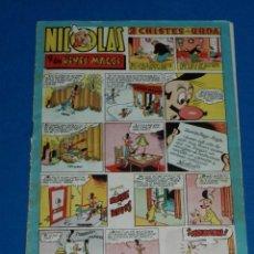 Tebeos: (M7) HISTORIETAS COMICAS NICOLES NUM 71 , EDC CLIPER , ROTURITAS EN EL LOMO. Lote 144445774