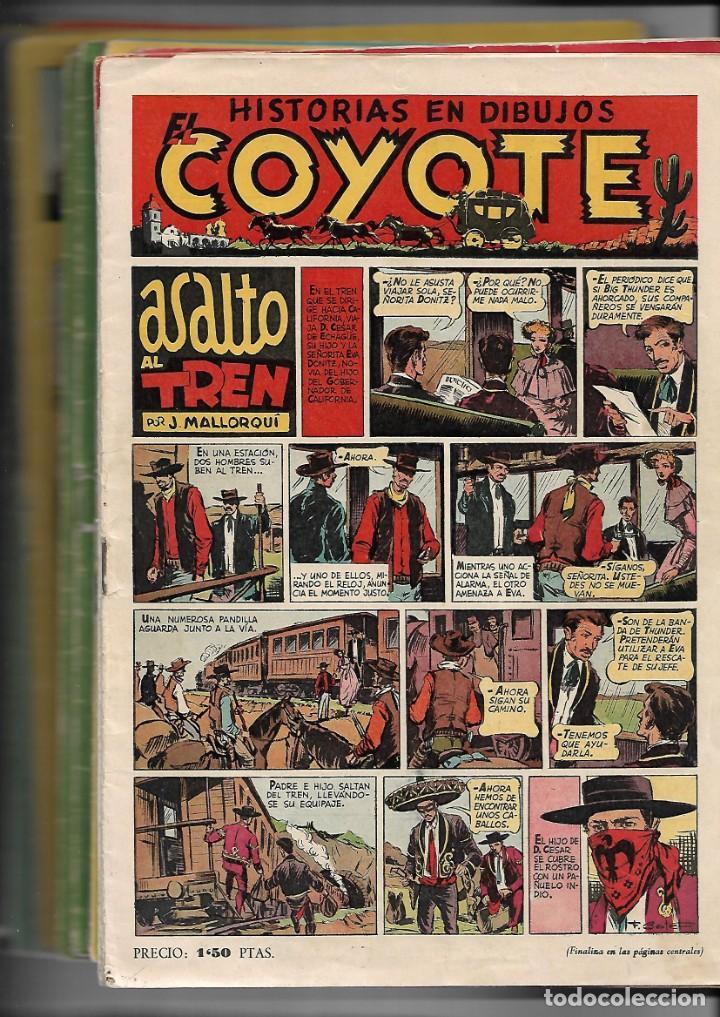 EL COYOTE, AÑO 1947 LOTE DE 33 TEBEOS SON ORIGINALES SE VENDEN SUELTOS A 8 €. LA UNIDAD (Tebeos y Comics - Cliper - El Coyote)