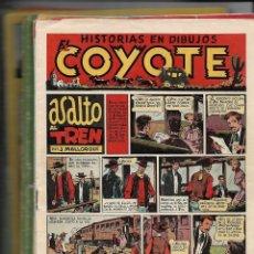 Tebeos: EL COYOTE, AÑO 1947 LOTE DE 33 TEBEOS SON ORIGINALES SE VENDEN SUELTOS A 8 €. LA UNIDAD. Lote 133530962
