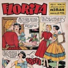 Tebeos: FLORITA - Nº 306 -LA MEJOR REVISTA-TEBEO PARA NIÑAS- 1955-VICENTE ROSO-JOSÉ BIELSA-BUENO-9931. Lote 145547492