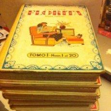 Tebeos: FLORITA - LOTE DE 7 VOLUMENES RETAPADOS (DEL 1 AL 7)- MUY BIEN CONSERVADOS. Lote 146450022