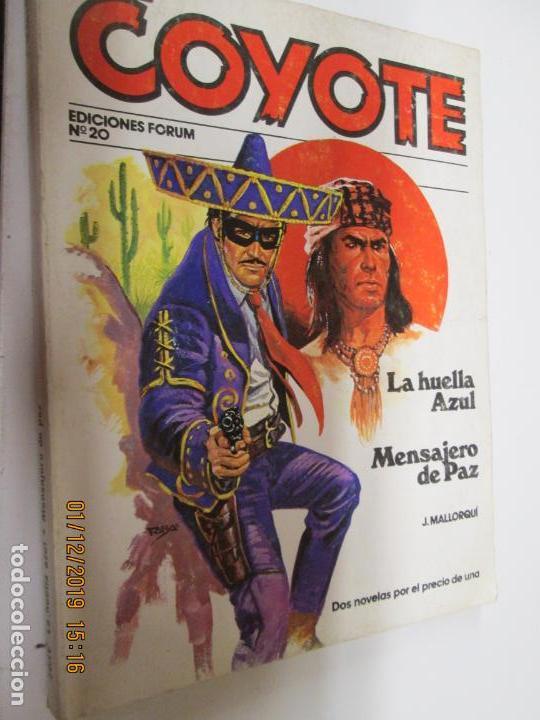 EL COYOTE EDICIONES FORUM Nº 20 LA HUELLA AZUL , MENSAJERO DE PAZ (Tebeos y Comics - Cliper - El Coyote)