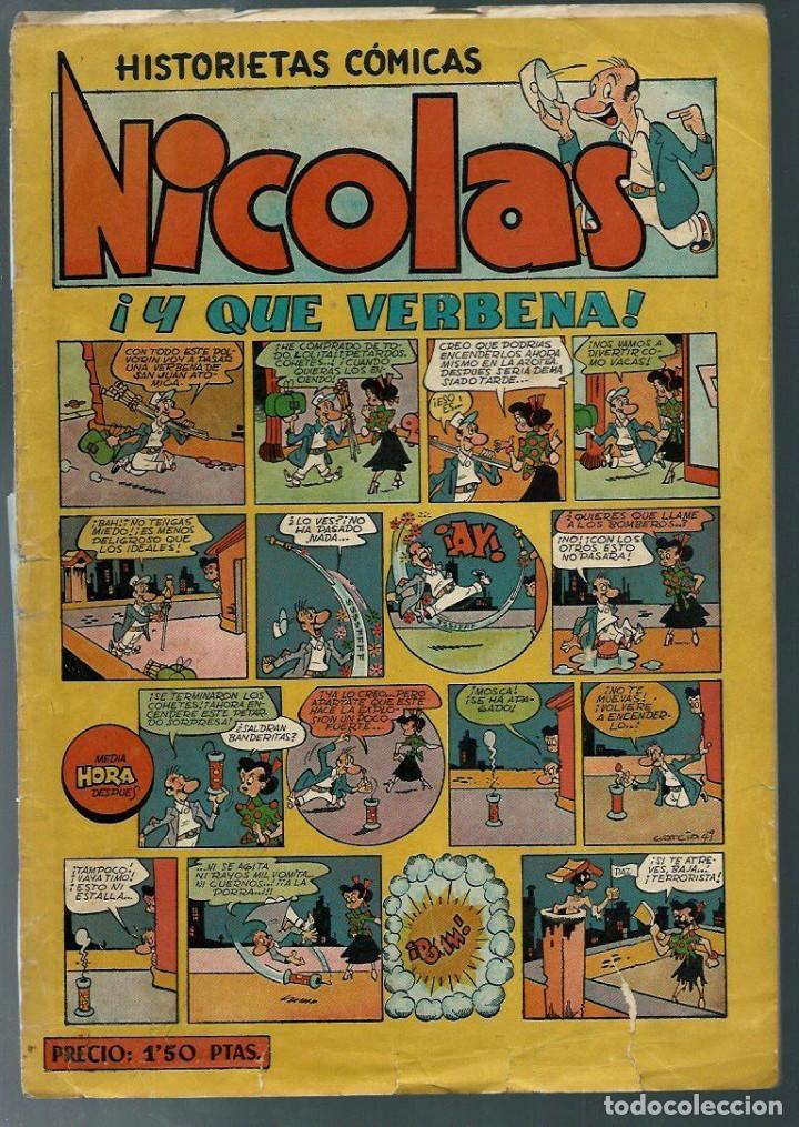 NICOLAS Nº 14 - ¡ Y QUE VERBENA ¡ - CLIPER 1948 - ORIGINAL (Tebeos y Comics - Cliper - Nicolas)