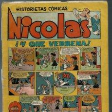 Tebeos: NICOLAS Nº 14 - ¡ Y QUE VERBENA ¡ - CLIPER 1948 - ORIGINAL. Lote 147762986