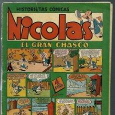 Tebeos: NICOLAS Nº 15 - ¡ EL GRAN CHASCO ¡ - CLIPER 1948 - ORIGINAL . Lote 147763334
