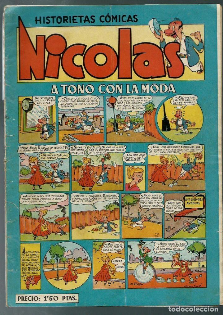NICOLAS Nº 1 - A TONO CON LA MODA - CLIPER 1948 - ORIGINAL - RARO (Tebeos y Comics - Cliper - Nicolas)