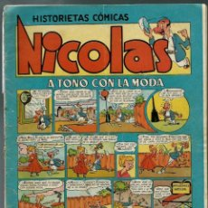 Tebeos: NICOLAS Nº 1 - A TONO CON LA MODA - CLIPER 1948 - ORIGINAL - RARO. Lote 147763594