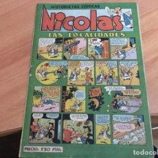 Tebeos: NICOLAS HISTORIESTAS COMICAS Nº 12 LAS LOCALIDADES (ED. CLIPER) (COIM19). Lote 149752982