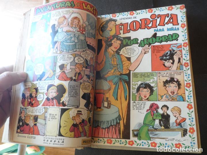 Tebeos: FLORITA TOMO DE EDITORIAL Nº 6 VI NÚM. 101 AL 120 EDITORIAL CLIPER AÑOS 50 - Foto 2 - 152577446