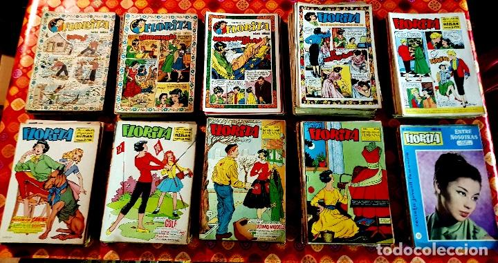 FLORITA (CLIPER, 1949-HISPANO AMERICANA, 1960) LOTE DE 302 EJEMPLARES (Tebeos y Comics - Cliper - Florita)