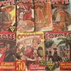 Tebeos: EL COYOTE LOTE DE 7 NÚMEROS (CON 2 EXTRAS Y EL N°50 BODAS DE ORO INCLUIDOS). Lote 153957329