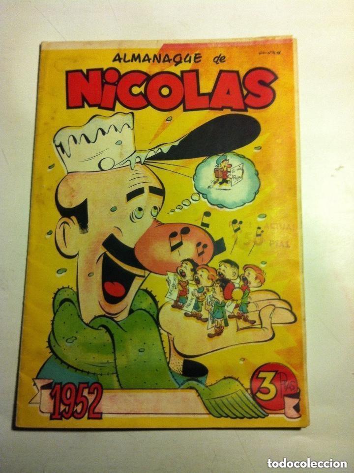 NICOLÁS - ALMANAQUE 1952 - MUY BIEN CONSERVADO (Tebeos y Comics - Cliper - Nicolas)