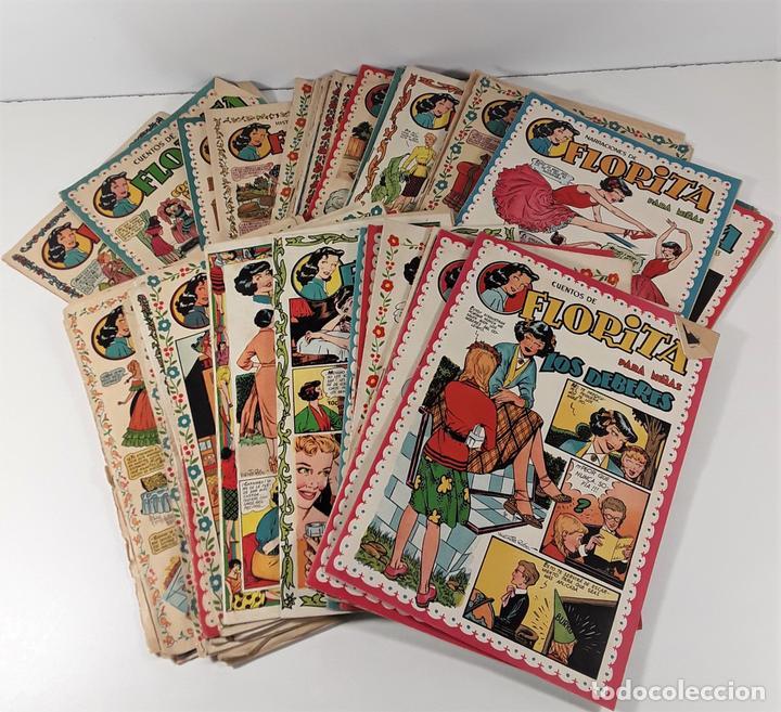 FLORITA. REVISTA PARA NIÑAS. 43 EJEMPLARES. EDICIONES CLIPER. BARCELONA. AÑOS 50. (Tebeos y Comics - Cliper - Florita)