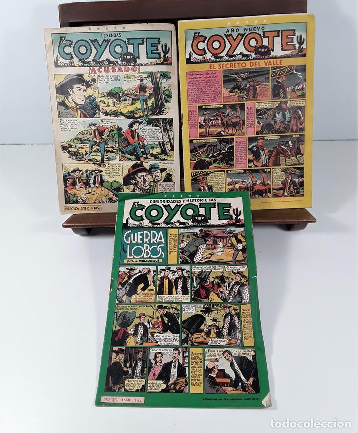 EL COYOTE. 3 EJEMPLARES. EDICIONES CLIPER. BARCELONA. S/F. (Tebeos y Comics - Cliper - El Coyote)