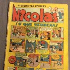 Tebeos: NICOLAS, N-14. ! Y QUE VERBENA !. 1948. Lote 162495258