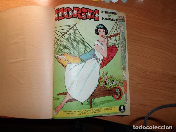 FLORITA TOMO CON EXTRAORDINARIO DE PRIMAVERA Y DEL NUMERO 436 AL 460 (Tebeos y Comics - Cliper - Florita)