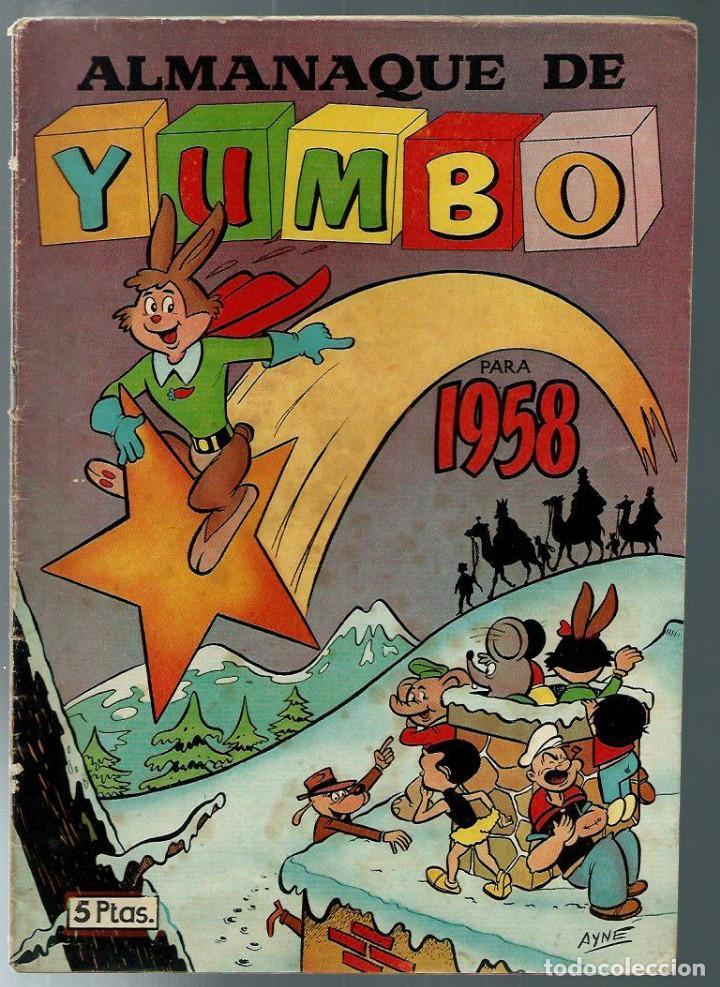 ALMANAQUE DE YUMBO PARA 1958 - EDICIONES CLIPER - ORIGINAL - DIFICIL (Tebeos y Comics - Cliper - Yumbo)