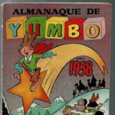 Tebeos: ALMANAQUE DE YUMBO PARA 1958 - EDICIONES CLIPER - ORIGINAL - DIFICIL. Lote 165397242