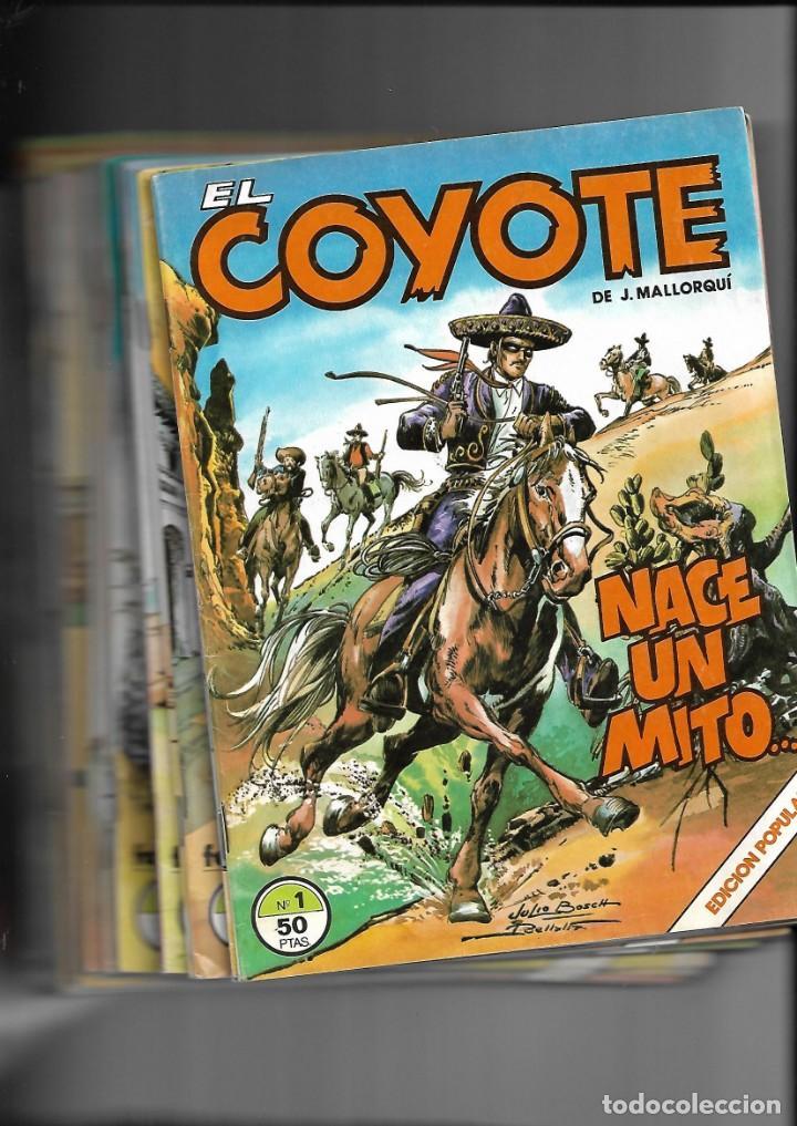 EL COYOTE, COLECCIÓN COMPLETA SON 24. TEBEOS ORIGINALES DE EDICIONES FORUM AGOTADA Y MUY NUEVOS (Tebeos y Comics - Cliper - El Coyote)
