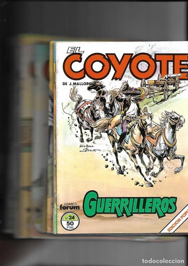 Tebeos: El Coyote, Colección Completa son 24. Tebeos Originales de Ediciones Forum Agotada y muy nuevos - Foto 2 - 165805450