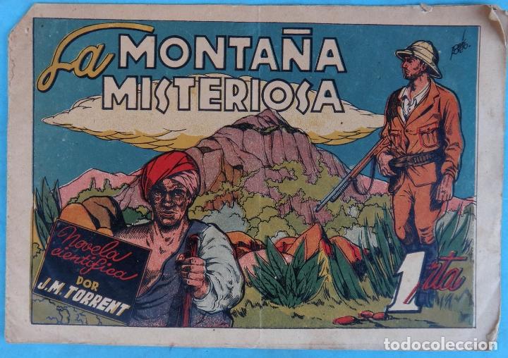 LA MONTAÑA MISTERIOSA , NOVELA CIENTIFICA , CLIPER , ANTIGUO , ORIGINAL , CT1 (Tebeos y Comics - Cliper - Otros)
