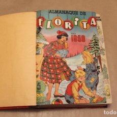 Tebeos: TOMO CASERO FLORITA, INCLUYE NÚMEROS 411 AL 435 AMBOS INCLUSIVE MÁS ALMANAQUE 1958, CLIPER. Lote 169151416