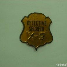 Tebeos: CHAPA ORIGINAL DETECTIVE SECRETO X-9 -- GRAN PERIODICO INFANTIL AVENTURERO. Lote 174235674
