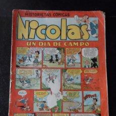 Tebeos: HISTORIETAS COMICAS. NICOLAS Nº 21 UN DIA DE CAMPO. EDICIONES CLIPER. . Lote 174466202