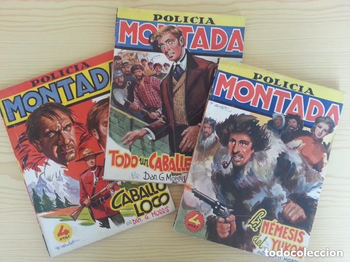 MORRIS: POLICÍA MONTADA CLIPER. 4-5-10: CABALLO LOCO, TODO UN CABALLERO, NÉMESIS DEL YUKÓN (Tebeos y Comics - Cliper - Otros)