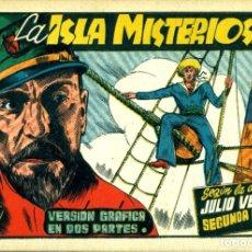 Tebeos: LA ISLA MISTERIOSA SEGUNDA PARTE (CISNE, 1942) AVENTURAS CELEBRES. SIN CROMOS.. Lote 178942638