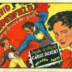 Tebeos: DAVID COPPERFIELD (CISNE, 1942) COMPLETA 2 PARTES. AVENTURAS CELEBRES. SIN CROMOS. Lote 178943971