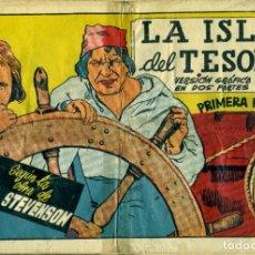 Tebeos: LA ISLA DEL TESORO. PRIMERA PARTE (CISNE, 1942) AVENTURAS CELEBRES. SIN CROMOS. Lote 178944676