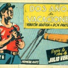 Tebeos: DOS AÑOS DE VACACIONES. 1ª PARTE (CISNE, 1942) AVENTURAS CELEBRES. SIN CROMOS. Lote 178944896