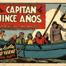 Tebeos: UN CAPITÁN DE 15 AÑOS. SEGUNDA PARTE (CISNE, 1942) AVENTURAS CELEBRES. SIN CROMOS.. Lote 178945047