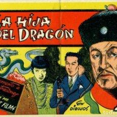 Tebeos: LA HIJA DEL DRAGÓN (CISNE, 1942) PELÍCULAS FAMOSAS-8. CON CROMOS.. Lote 179226797