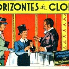 Tebeos: HORIZONTES DE GLORIA (CISNE, 1942) PELICULAS FAMOSAS-21. CON CROMOS.. Lote 179231110