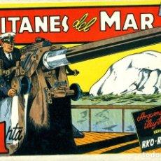 Tebeos: TITANES DEL MAR (CISNE, 1942) PELÍCULAS FAMOSAS-18.CON CROMOSPOR. Lote 179232933