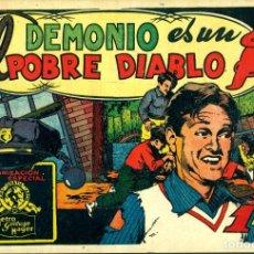 Tebeos: EL DEMONIO ES UN POBRE DIABLO (CISNE, 1942) PELÍCULAS FAMOSAS-25. PORTADA DE JESÚS BLASCO. Lote 179234720