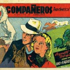Tebeos: COMPAÑEROS INDÓMITOS (CISNE, 1942) PELÍCULAS FAMOSAS-15. DIBUJOS DE LONGORIA. CON CROMOSB. Lote 179235101