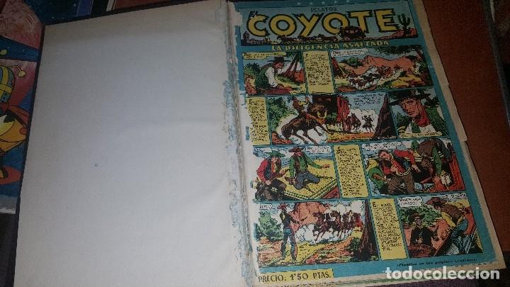 RELATOS COYOTE, TOMO CON LOS NUMEROS DEL N° 66 AL N° 99 + ALMANAQUE 1951 (Tebeos y Comics - Cliper - El Coyote)
