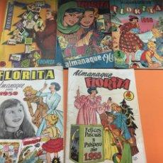 Tebeos: FLORITA LOTE 150 +5ALMANAQUES 1955-58-59-1960-1961-. Lote 181900912