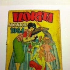 Tebeos: FLORITA -ALMANAQUE 1954. Lote 181988360