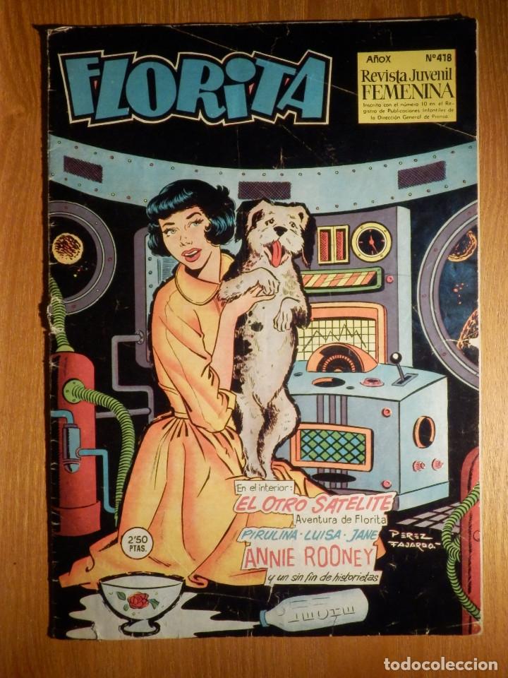 COMIC - TEBEO FLORITA - REVISTA JUVENIL FENENINA - Nº 418 - CLIPER - GERPLA - (Tebeos y Comics - Cliper - Florita)