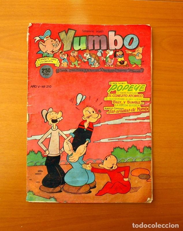 YUMBO Nº 210, POPEYE, EL CONEJITO ATÓMICO, BILLY Y BUMBLE - EDICIONES CLIPER 1953 (Tebeos y Comics - Cliper - Yumbo)