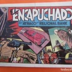 Tebeos: EL ENCAPUCHADO NÚM. 19. ATRACO AL REGIONAL BANK. EDITORIAL CLIPER , ORIGINAL 1948. Lote 183429065